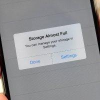 پیغام پر بودن حافظه گوشی موبایل